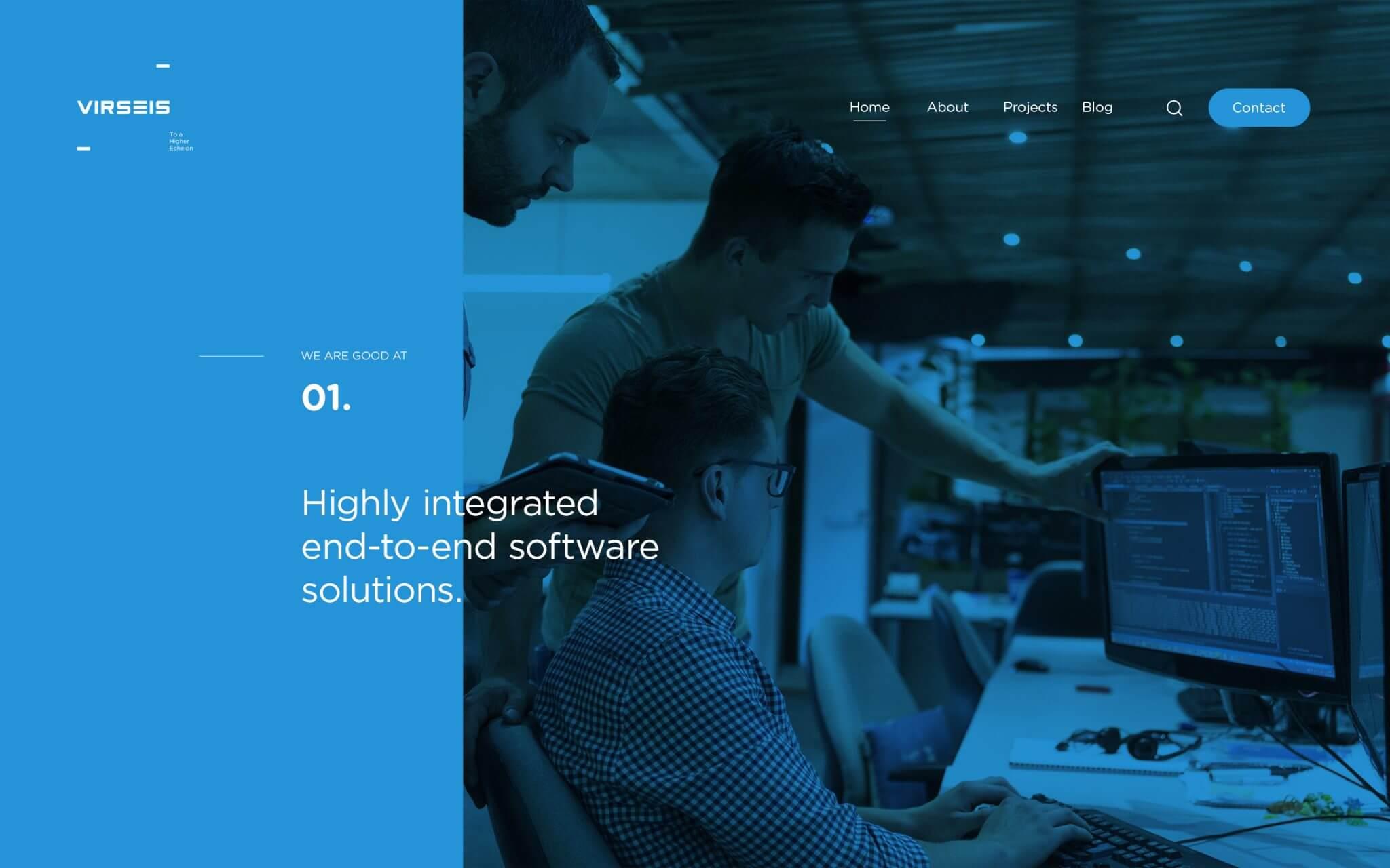 Virseis-web-landing-page-UI-design